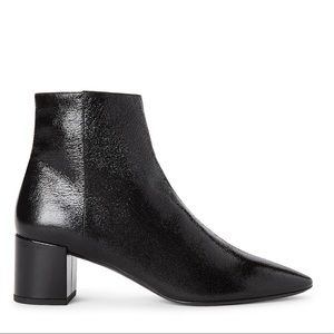 Saint Laurent YSL Loulou crackled leather boots